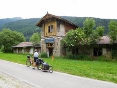 Eisack-Radweg: Alte Brennerbahn Bf Schelleberg
