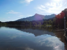 Kitzbüheler Horn vom Schwarzsee bei Kitzbühel