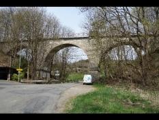 ex-Eisenbahn-Brücke in Morsbach-Rhein
