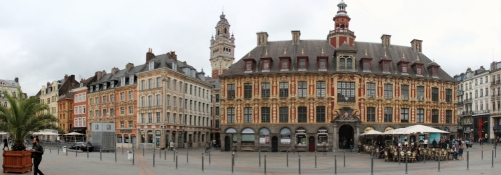 Lille, Grand Place, on the right the Vielle Bourse