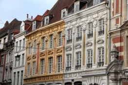 Lille, facades in the Old Town
