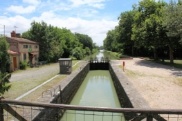 Lock at the Canal du Midi