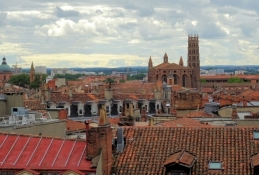 Toulouse, Blick vom Dach des Kaufhauses Lafayette