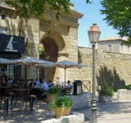 Carcassonne, gate into the bastide