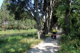 Cycle path along Canal du Midi east of Carcassonne