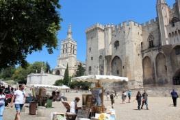 Avignon, Cathédrale Notre-Dame des Doms und Palais des Papes