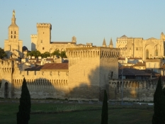 Avignon at sunset
