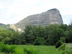A whole mountain as a quarry