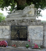 The monument ʺMartyrs du Bessillonʺ near Pontevès
