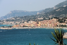 View back to Menton
