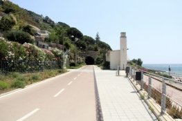 On the bike path near Capo Nero