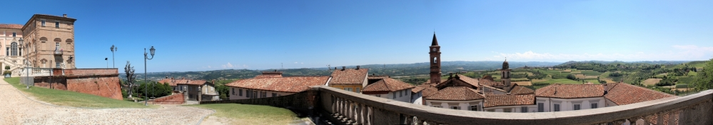 View from the terrace in front of the Castello di Govone