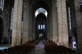 Asti, interior of the cathedral