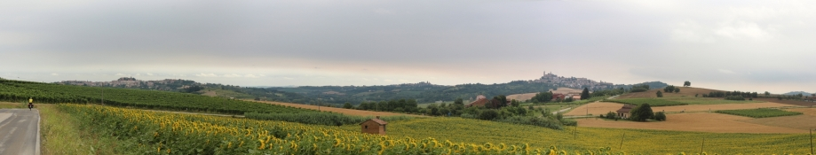 Landscape between Casorzo and Vignale Monferrato