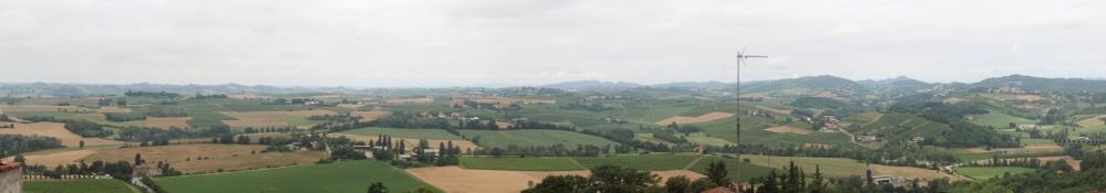 Blick von der Terrasse der Kirche San Bartolomeo in Vignale