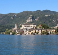 Isola San Giulio seen from the ferry boat
