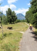 Cycle path in the Toce valley