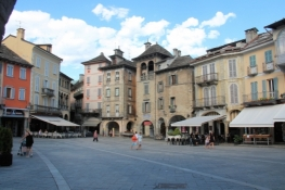 Domodossola, main square in the old town