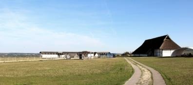 Rekonstruierte Gebäude der Heuneburg
