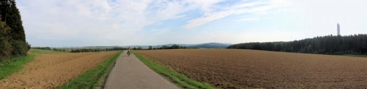 Neckartal-Radweg hinter Rottweil