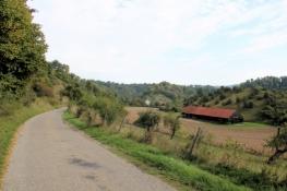 Abfahrt von Rottweil ins Neckartal