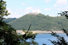 Schloss Waldeck über dem Edersee