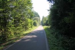 Auf dem Bahntrassenradweg bei Böswipper