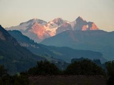 Berner Alpen von Camping Giswil