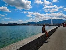 Genf: Quai du Mont-Blanc