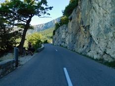 D 952 Richtung La Palud-sur-Verdon