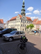 On the town hall square of Pirna