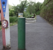 In this way the border into The Czech Republic is marked on the Elbe bikepath