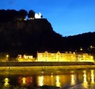 An evening stroll with magnificent vistas of the pretty town of Děčín
