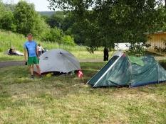 Our tents on the campsite of Děčín
