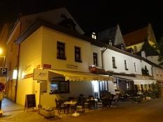Our nice ʺemergency accommodationʺ Hotel Klika by night