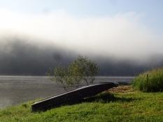 Morning mist over the Orlik reservoir where I had a morning swim