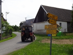 The Czech cycle routes are often well signposted