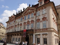 The Kinský palace on the city hall square. Today it is home to the National Galleryʹs administration