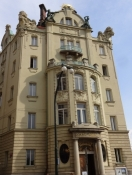 The Goethe Institute, home of the German language, for centuries dominating in Prague