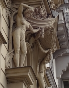 The art nouveau style, common in Prague, really hailed the beauty of the female body