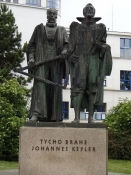 Two extraordinary astronomers, who lived in Prague, are honoured here. The German Kepler ...