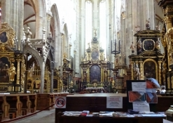 ... and the Dane Brahe, who is buried in the Týn cathedral, which this is a glance into
