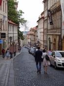 Nerudova street leads down from the castle to Malostranské náměstí area to the Lesser Side