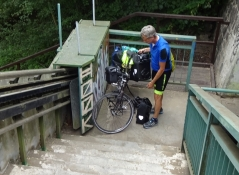 But that proved wrong, as the route ended in these stairs upon a bridge