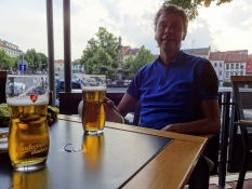 We had a hearty supper at an outdoor restaurant in Roudnice nad Labem