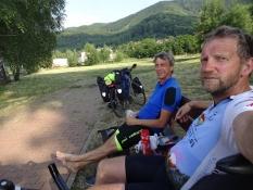 A short break on the fine bike route along the Elbe