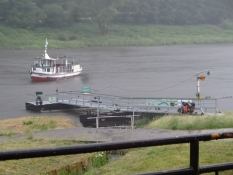 Back at the river Elbe, where a ferry carried us over from Schmilka