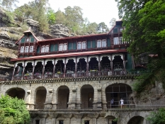 The Falconʹs nest was built in 1886 and sits all alone in wild nature