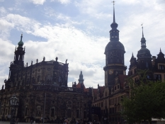 A part of the castle with the cathedral and the Hausmann tower