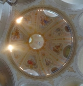 A glance into the cupola of this magnificent baroque building